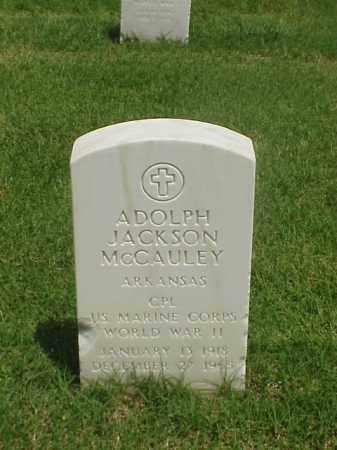 MCCAULEY (VETERAN WWII), ADOLPH JACKSON - Pulaski County, Arkansas | ADOLPH JACKSON MCCAULEY (VETERAN WWII) - Arkansas Gravestone Photos