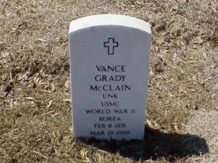 MCCLAIN  (VETERAN 2 WARS), VANCE GRADY - Pulaski County, Arkansas | VANCE GRADY MCCLAIN  (VETERAN 2 WARS) - Arkansas Gravestone Photos