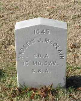 MCCLAIN (VETERAN CSA), ANDREW J - Pulaski County, Arkansas | ANDREW J MCCLAIN (VETERAN CSA) - Arkansas Gravestone Photos