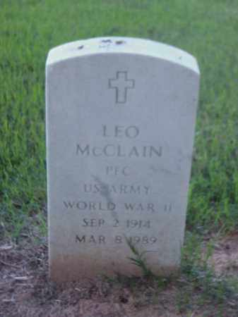 MCCLAIN (VETERAN WWII), LEO - Pulaski County, Arkansas | LEO MCCLAIN (VETERAN WWII) - Arkansas Gravestone Photos