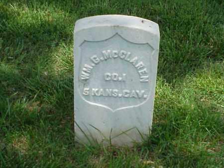 MCCLAREN (VETERAN UNION), WILLIAM G - Pulaski County, Arkansas | WILLIAM G MCCLAREN (VETERAN UNION) - Arkansas Gravestone Photos