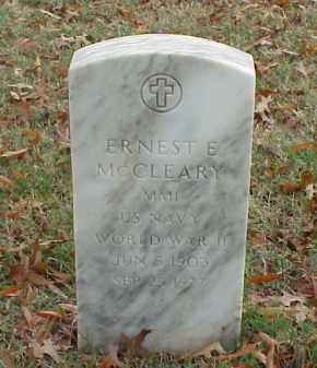 MCCLEARY (VETERAN WWI), ERNEST E - Pulaski County, Arkansas | ERNEST E MCCLEARY (VETERAN WWI) - Arkansas Gravestone Photos