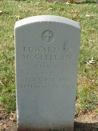 MCCLELLAN (VETERAN SAW), EDWARD W - Pulaski County, Arkansas | EDWARD W MCCLELLAN (VETERAN SAW) - Arkansas Gravestone Photos