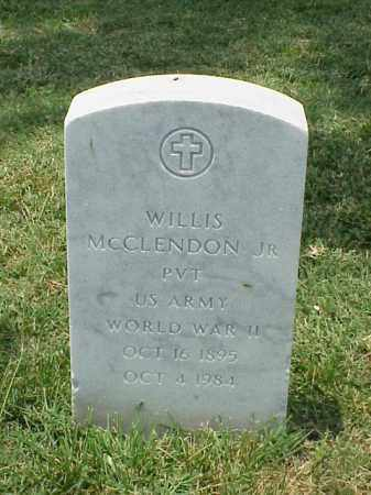 MCCLENDON, JR (VETERAN WWII), WILLIS - Pulaski County, Arkansas | WILLIS MCCLENDON, JR (VETERAN WWII) - Arkansas Gravestone Photos