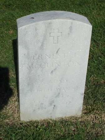 MCCLINTON (VETERAN WWII), ERNEST J - Pulaski County, Arkansas   ERNEST J MCCLINTON (VETERAN WWII) - Arkansas Gravestone Photos