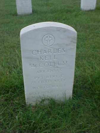 MCCOLLUM (VETERAN WWI), CHARLES KELL - Pulaski County, Arkansas   CHARLES KELL MCCOLLUM (VETERAN WWI) - Arkansas Gravestone Photos