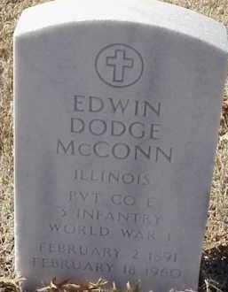 MCCONN  (VETERAN WWI), EDWIN DODGE - Pulaski County, Arkansas | EDWIN DODGE MCCONN  (VETERAN WWI) - Arkansas Gravestone Photos