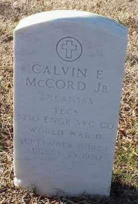 MCCORD, JR  (VETERAN WWII), CALVIN E - Pulaski County, Arkansas | CALVIN E MCCORD, JR  (VETERAN WWII) - Arkansas Gravestone Photos