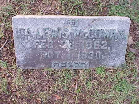 LEWIS MCCOWAN, IDA - Pulaski County, Arkansas | IDA LEWIS MCCOWAN - Arkansas Gravestone Photos