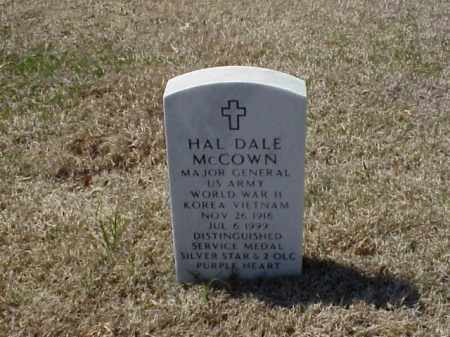 MCCOWN (VETERAN 3 WARS), HAL DALE - Pulaski County, Arkansas | HAL DALE MCCOWN (VETERAN 3 WARS) - Arkansas Gravestone Photos
