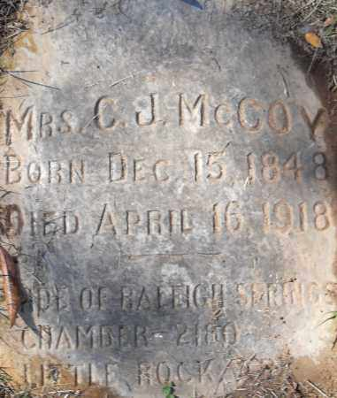 MCCOY, C J - Pulaski County, Arkansas   C J MCCOY - Arkansas Gravestone Photos