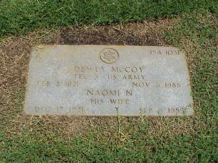 MCCOY (VETERAN WWII), DEWEY - Pulaski County, Arkansas | DEWEY MCCOY (VETERAN WWII) - Arkansas Gravestone Photos