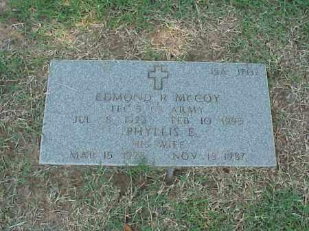 MCCOY, PHYLLIS E - Pulaski County, Arkansas | PHYLLIS E MCCOY - Arkansas Gravestone Photos