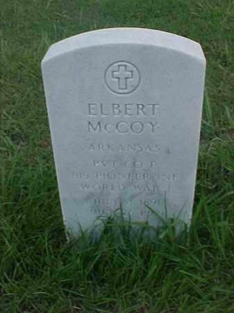 MCCOY (VETERAN WWI), ELBERT - Pulaski County, Arkansas | ELBERT MCCOY (VETERAN WWI) - Arkansas Gravestone Photos