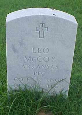 MCCOY (VETERAN WWII), LEO - Pulaski County, Arkansas   LEO MCCOY (VETERAN WWII) - Arkansas Gravestone Photos