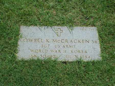 MCCRACKEN, SR (VETERAN 2 WARS), LOWELL K - Pulaski County, Arkansas | LOWELL K MCCRACKEN, SR (VETERAN 2 WARS) - Arkansas Gravestone Photos