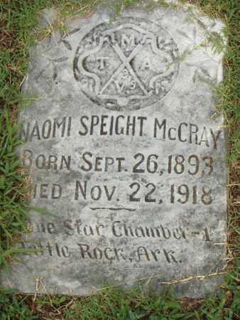 SPEIGHT MCCRAY, NAOMI - Pulaski County, Arkansas | NAOMI SPEIGHT MCCRAY - Arkansas Gravestone Photos
