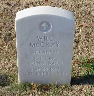 MCCRAY (VETERAN WWI), WILL - Pulaski County, Arkansas | WILL MCCRAY (VETERAN WWI) - Arkansas Gravestone Photos