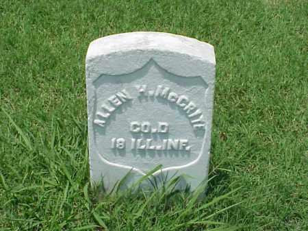 MCCRITE (VETERAN UNION), ALLEN H - Pulaski County, Arkansas   ALLEN H MCCRITE (VETERAN UNION) - Arkansas Gravestone Photos
