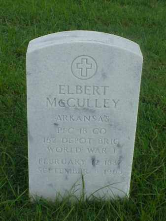 MCCULLEY (VETERAN WWI), ELBERT - Pulaski County, Arkansas | ELBERT MCCULLEY (VETERAN WWI) - Arkansas Gravestone Photos