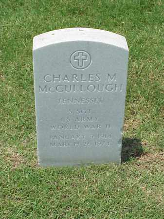 MCCULLOUGH (VETERAN WWII), CHARLES M - Pulaski County, Arkansas | CHARLES M MCCULLOUGH (VETERAN WWII) - Arkansas Gravestone Photos