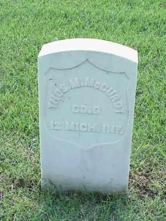 MCCURDY (VETERAN UNION), THOMAS M - Pulaski County, Arkansas | THOMAS M MCCURDY (VETERAN UNION) - Arkansas Gravestone Photos