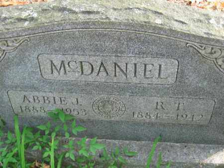 MCDANIEL, ABBIE J - Pulaski County, Arkansas | ABBIE J MCDANIEL - Arkansas Gravestone Photos