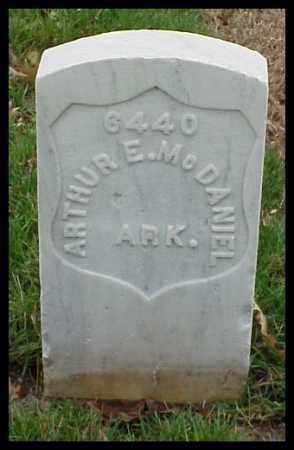 MCDANIEL (VETERAN SAW), ARTHUR E - Pulaski County, Arkansas | ARTHUR E MCDANIEL (VETERAN SAW) - Arkansas Gravestone Photos