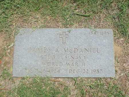MCDANIEL (VETERAN WWII), JAMES A - Pulaski County, Arkansas   JAMES A MCDANIEL (VETERAN WWII) - Arkansas Gravestone Photos