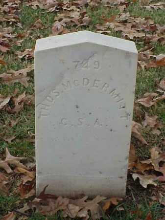 MCDERMITT (VETERAN CSA), THOMAS - Pulaski County, Arkansas | THOMAS MCDERMITT (VETERAN CSA) - Arkansas Gravestone Photos
