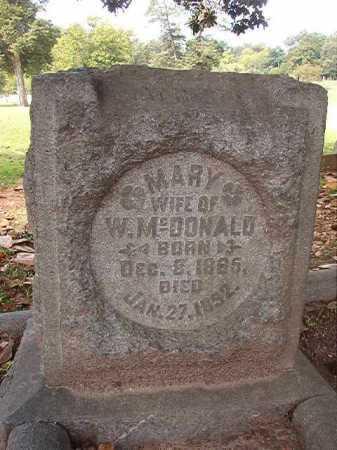 MCDONALD, MARY - Pulaski County, Arkansas | MARY MCDONALD - Arkansas Gravestone Photos