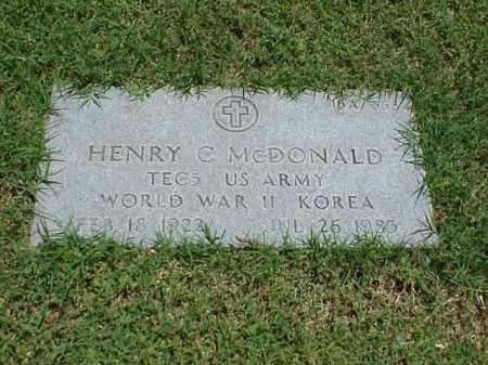 MCDONALD (VETERAN 2 WARS), HENRY C - Pulaski County, Arkansas | HENRY C MCDONALD (VETERAN 2 WARS) - Arkansas Gravestone Photos