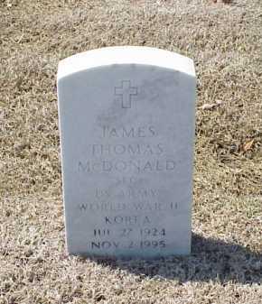 MCDONALD (VETERAN 2 WARS), JAMES THOMAS - Pulaski County, Arkansas | JAMES THOMAS MCDONALD (VETERAN 2 WARS) - Arkansas Gravestone Photos