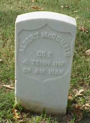 MCDONALD (VETERAN SAW), ALBERT - Pulaski County, Arkansas | ALBERT MCDONALD (VETERAN SAW) - Arkansas Gravestone Photos
