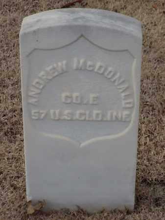 MCDONALD (VETERAN UNION), ANDREW - Pulaski County, Arkansas | ANDREW MCDONALD (VETERAN UNION) - Arkansas Gravestone Photos
