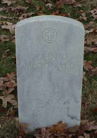 MCDONALD (VETERAN WWI), JOHN D - Pulaski County, Arkansas | JOHN D MCDONALD (VETERAN WWI) - Arkansas Gravestone Photos