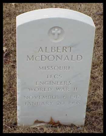 MCDONALD (VETERAN WWII), ALBERT - Pulaski County, Arkansas | ALBERT MCDONALD (VETERAN WWII) - Arkansas Gravestone Photos