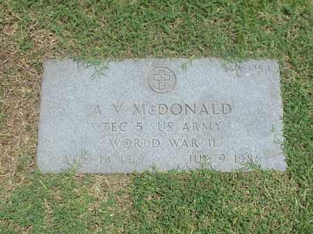 MCDONALD (VETERAN WWII), A V - Pulaski County, Arkansas | A V MCDONALD (VETERAN WWII) - Arkansas Gravestone Photos