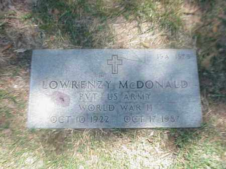 MCDONALD (VETERAN WWII), LOWRENZY - Pulaski County, Arkansas | LOWRENZY MCDONALD (VETERAN WWII) - Arkansas Gravestone Photos