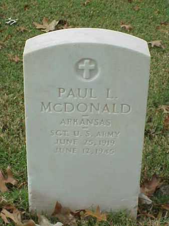 MCDONALD (VETERAN WWII), PAUL L - Pulaski County, Arkansas | PAUL L MCDONALD (VETERAN WWII) - Arkansas Gravestone Photos