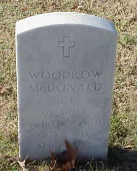 MCDONALD (VETERAN WWII), WOODROW - Pulaski County, Arkansas | WOODROW MCDONALD (VETERAN WWII) - Arkansas Gravestone Photos