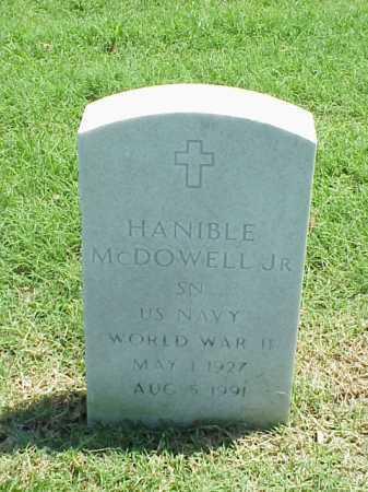 MCDOWELL, JR (VETERAN WWII), HANIBLE - Pulaski County, Arkansas   HANIBLE MCDOWELL, JR (VETERAN WWII) - Arkansas Gravestone Photos