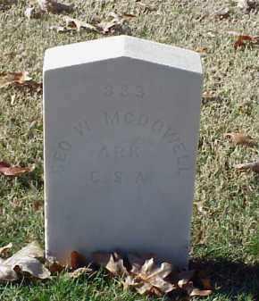 MCDOWELL (VETERAN CSA), GEORGE W - Pulaski County, Arkansas   GEORGE W MCDOWELL (VETERAN CSA) - Arkansas Gravestone Photos
