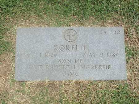 MCDUFFIE, KOKEL L - Pulaski County, Arkansas | KOKEL L MCDUFFIE - Arkansas Gravestone Photos