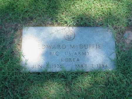 MCDUFFIE (VETERAN KOR), EDWARD - Pulaski County, Arkansas | EDWARD MCDUFFIE (VETERAN KOR) - Arkansas Gravestone Photos