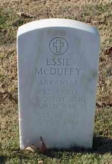 MCDUFFY (VETERAN WWI), ESSIE - Pulaski County, Arkansas   ESSIE MCDUFFY (VETERAN WWI) - Arkansas Gravestone Photos