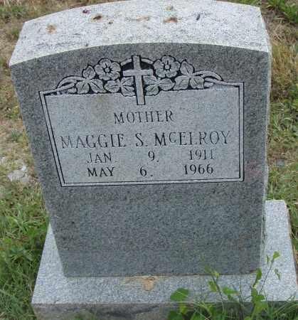 MCELROY, MAGGIE S. - Pulaski County, Arkansas   MAGGIE S. MCELROY - Arkansas Gravestone Photos