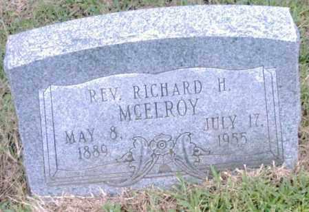 MCELROY, REV., RICHARD H. - Pulaski County, Arkansas | RICHARD H. MCELROY, REV. - Arkansas Gravestone Photos