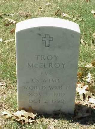 MCELROY (VETERAN WWII), TROY - Pulaski County, Arkansas   TROY MCELROY (VETERAN WWII) - Arkansas Gravestone Photos