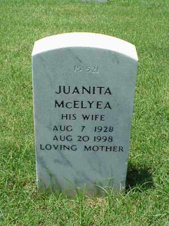 MCELYEA, JUANITA - Pulaski County, Arkansas | JUANITA MCELYEA - Arkansas Gravestone Photos